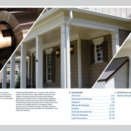 Spectra product catalog: inside cover and table of contents