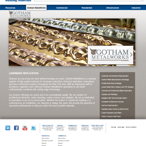 Gotham Metalworks page
