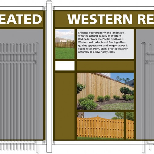 Concept design and fence mockup