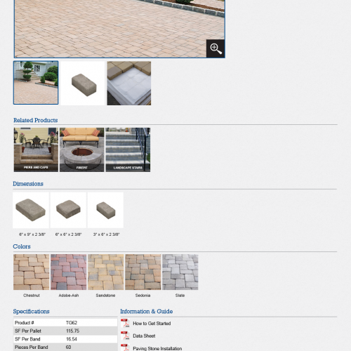 Residential product sample page