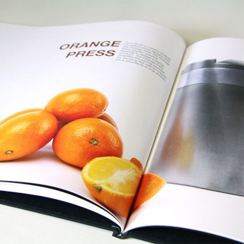 Portfolio book spread: Orange Press