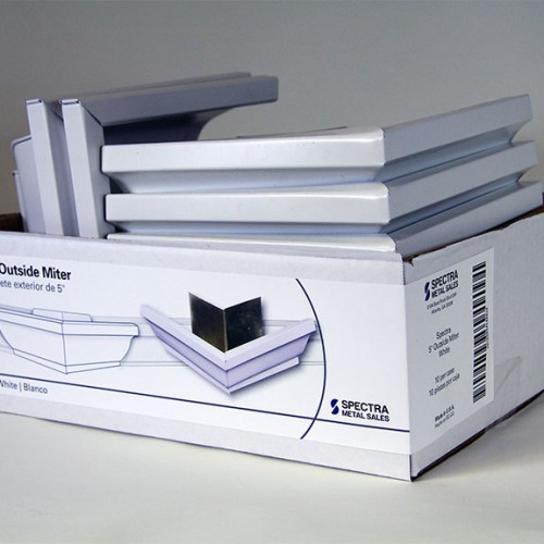 Outside Miter label on package