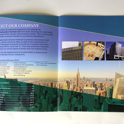 Brochure inside cover spread