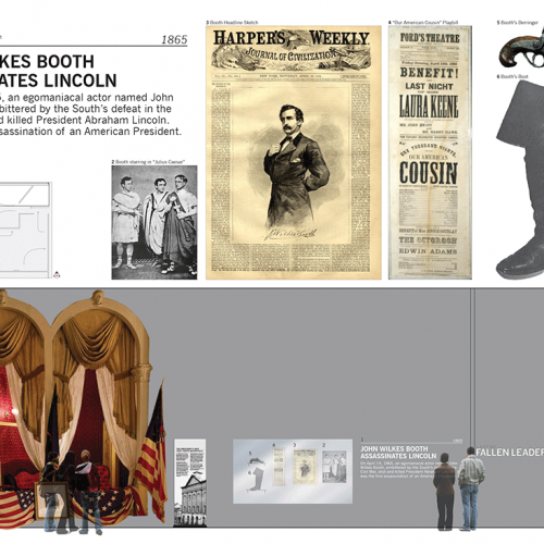 America's Fallen Leaders Exhibit Halls, featuring Lincoln's assassination