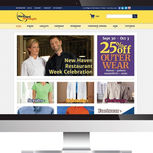 Home page for workharddressright.com