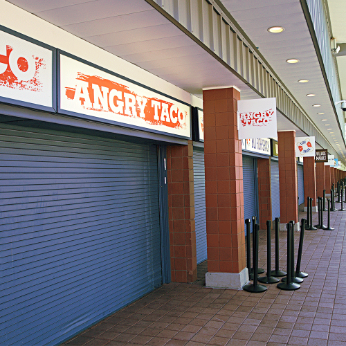 Headers and blade signs installed at Food Village