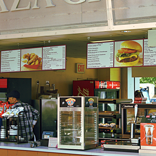 East Plaza Grill stand
